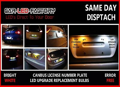 Ford Fiesta Mk 6 02-08 Bright White Led Number Plate Light Bulbs Error Free