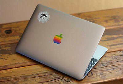 "3x Apple Old Retro Rainbow Logo Sticker for 12"" Macbook and 13"" 15"" Macbooks Pro"