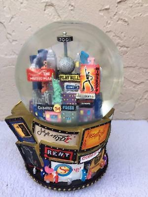 Broadway 2001 New York Musical Snow Globe Time Square Twin Towers