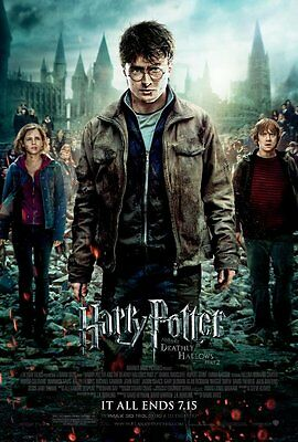 HARRY POTTER 7 DEATHLY HALLOWS PART 2 MOVIE POSTER 2 Sided ORIGINAL FINAL 27x40