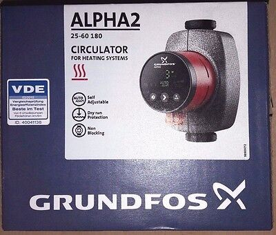 GRUNDFOS  ALPHA2  25-60-180  (circulator) NEU
