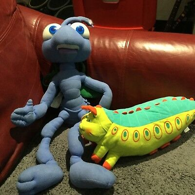 "Disney A Bug's Life Large Talking Flik The Ant Plush 30"" Long Soft + Heimlich"