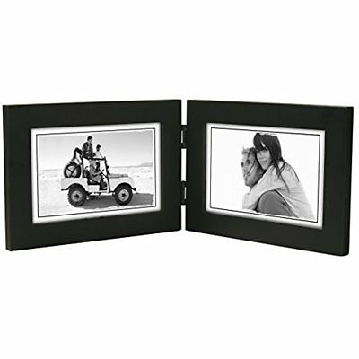 MALDEN Linear Wood 4x6 Double Black Picture Frame, New, Free ...