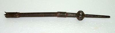Antique Old Rare Hand Carved Indo Islamic Mughal Spear Head Lance Dagger Point
