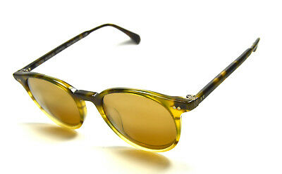New Oliver Peoples Delray Sun Col. Vintage Brown Tortoise + Gold Mirror Lenses