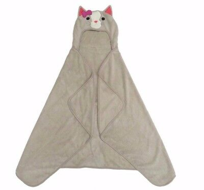 Cat Hooded Bath Towel Gray Soft Animal - Pillowfort