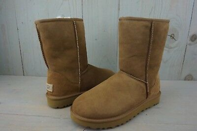b6942255b53 UGG CLASSIC SHORT Ii 2 Chestnut Water Resistant Stain Repellant Boots Us 9  New