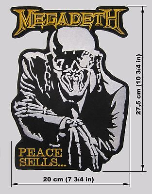 MEGADETH back patch Peace Sells embroidered NEW thrash metal