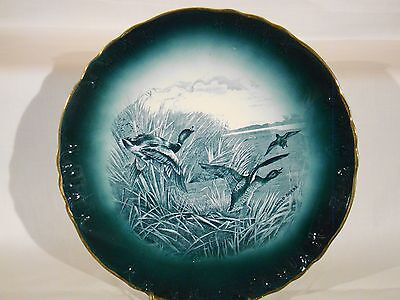 "Buffalo Pottery Sporting Plate ""Wild Ducks"" 1907"
