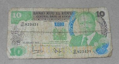 Bank Of Kenya 10 Kumi World Paper Money Get It Now To Hedge Us Inflation