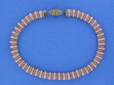 Exquisite Pink French Art Deco Collar Necklace  (NK1806)