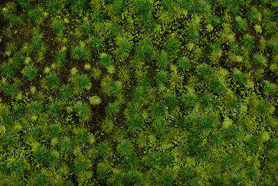 "Bachmann-Tufted Grass Sheet/Mat - SceneScapes(R) -- Medium Green 3/16""  .5cm Tal"