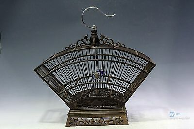 Fine Beautiful Chinese Rosewood carving sector birdcage