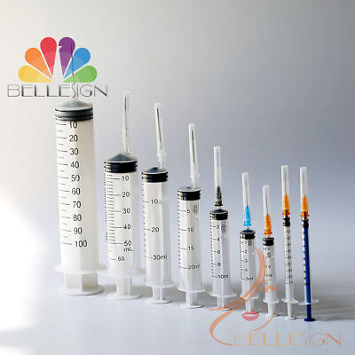 Syringes Medical Sterile Hypodermic Quality injections 1ml 3ml 5-10ml ALL SIZES