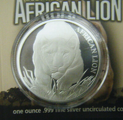 2017 Republic of Chad African Lion 5000 Francs 1 oz. Silver coin