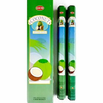 GIANT JUMBO Coconut Garden Incense Sticks - HEM - Bulk Box Of 6 Packets