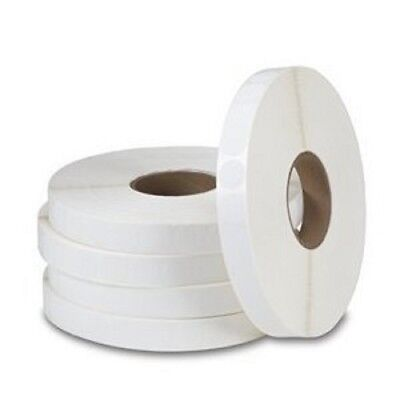 "Wafer Seal 1"" Inch Round Horizontal White Circle Label, 5,000 Tabs Per Roll"