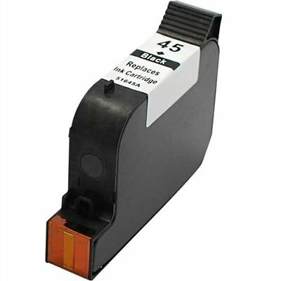 Compatible Ink Cartridge (51645A) HP 45 Black Patented, Pigment Based HP