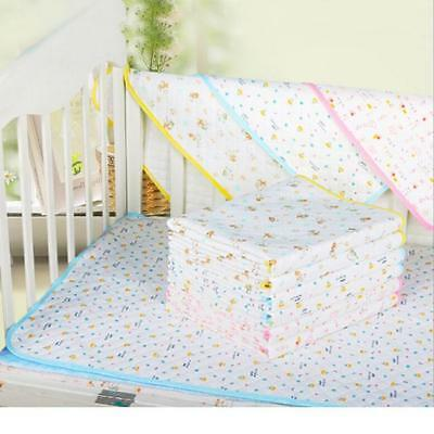 Reusable Baby Infant Cotton Mat Breathable Nappy Cover Change Urine Pad BS