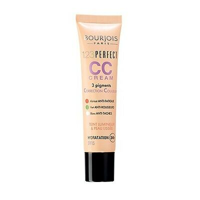Fond De Teint Bourjois 1.2.3.perfect Cc Cream Anti Fatgue , Rougeurs & Taches