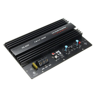 12V 1000W Mono Car Audio Power Amplifier Powerful Bass Subwoofers Amp PA80D 2017