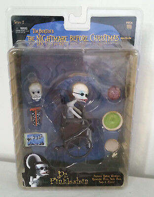 Tim Burton's The Nightmare Before Christmas Dr. Finklestein figure on card NECA