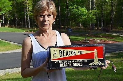 Vintage Beacon $3.00 Shoe Multi Level Light Up Point Of Sale Sign Super Rare