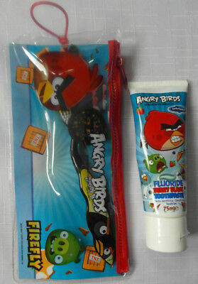 ANGRY BIRDS Oral Care Set - Toothpaste, Toothbrush with Cap & Travel Bag
