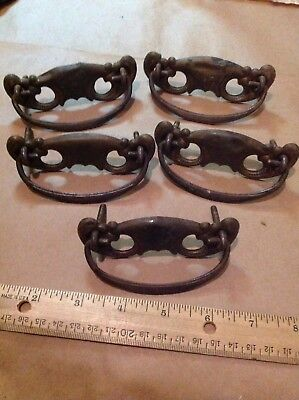 Lot of 5 Vintage Antique Metal Drawer Pulls