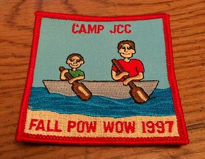 vintage Camp JCC Jewish Community Center Fall Pow Wow 1997 patch Sew Camping New