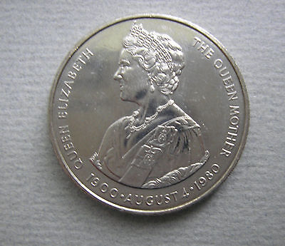 Falklands 50 P 1980 Brilliant Uncirculated KM 15 Queen Mother 80th Birthday