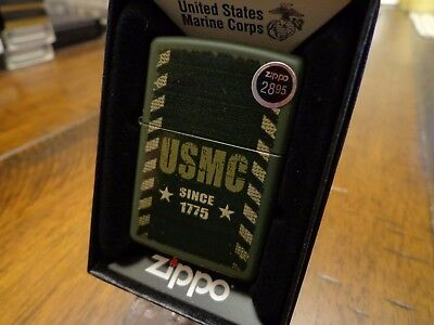 United States Marine Corps Usmc Since 1775 Zippo Lighter Mint In Box 2011