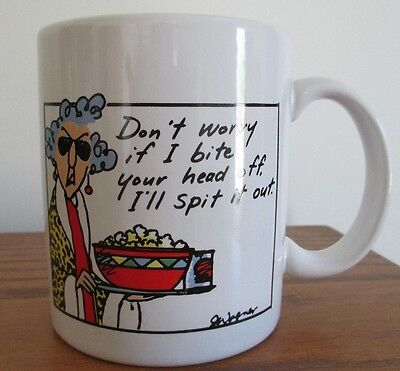 Maxine Hallmark Coffee Mug Cup Sarcastic Bite Your Head Off Grouchy Old Woman GC