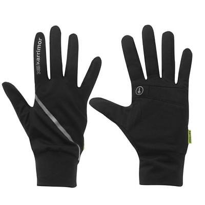 Mens Karrimor Running Gloves Lightweight Key Pocket Reflective Size XS-XL