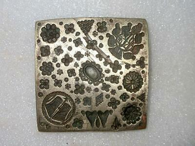Old Antique Hand Engraved Bronze Traditional Design for Jewelry Big Die Mold