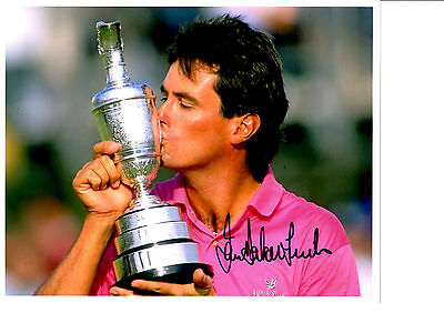 Ian Baker Finch Hand Signed Golf Photograph Unframed + Photo Proof C.o.a