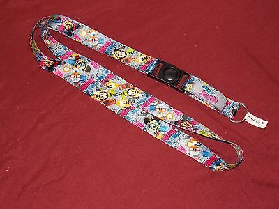 Disney Parks NERDS Trading Pin Lanyard NEW Mickey Minnie Goofy Pluto New