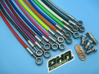 OHA Stainless Steel Braided Front Brake Line Kit for BMW F650 1994-2000