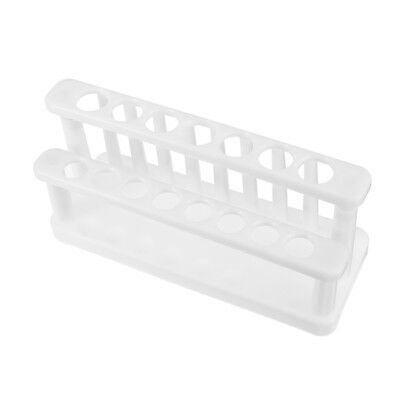 15 Positions Test Tube Rack Bracket White Plastic for Lab 15-20mm Tubes