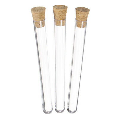 50Pcs 16x150mm 20ml Plastic Test Tube With Stopper Lab Supplies