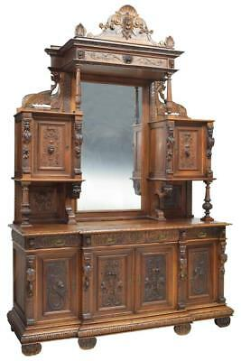 Monumental Italian Renaissance Revival Carved Sideboard, 19Th Century ( 1800S )