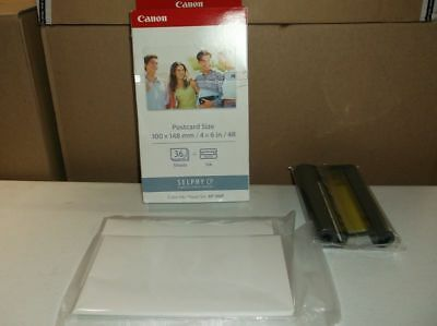 NEW GENUINE CANON Selphy CP Color Ink & Paper Set KP-36IP - Open Box