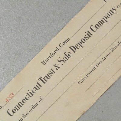 Colt Patent Fire Arms Mfg Co UNISSUED check 191? #41