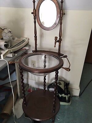 Antique Wooden Wash Basin Stand With Mirror **pick Up Only**