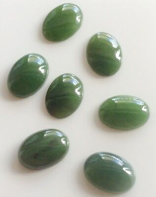 1 PC OVAL CUT SHAPE NATURAL JADE 14x10MM CABOCHON LOOSE GEMSTONE