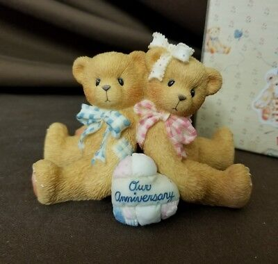 NIB Cherished Teddies You Grow More Dear With Each Passing Year Anniversary 1997