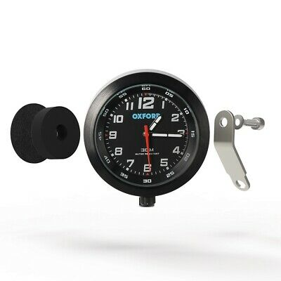 OXFORD Unique Designed Analogue 30m Water Resistant Clock-Black Motorcycle Motor