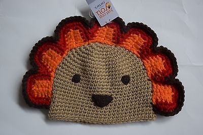 NWT Carter's Thanksgiving Turkey Knit Hat Infant Baby size 0-12 Months