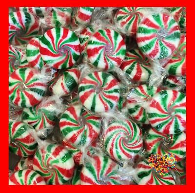 Christmas Lollies Red Green  Starlights Pinwheel 1Kg 165Ct Starlites