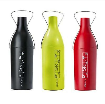 NEW SKYBAR WINE TRAVELLER Bottle Champagne Carrier Chiller GREEN RED BLACK